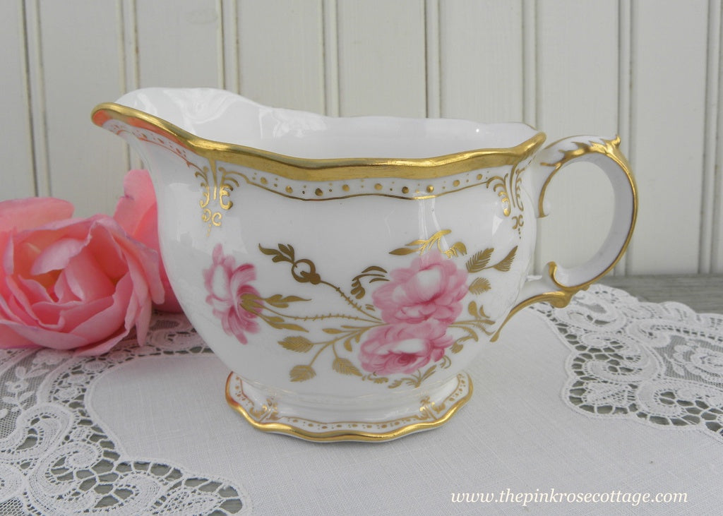 Vintage Royal Crown Derby Royal Pinxton Roses Creamer