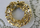 Vintage Gold and Enameled Christmas Holly Wreath Pin