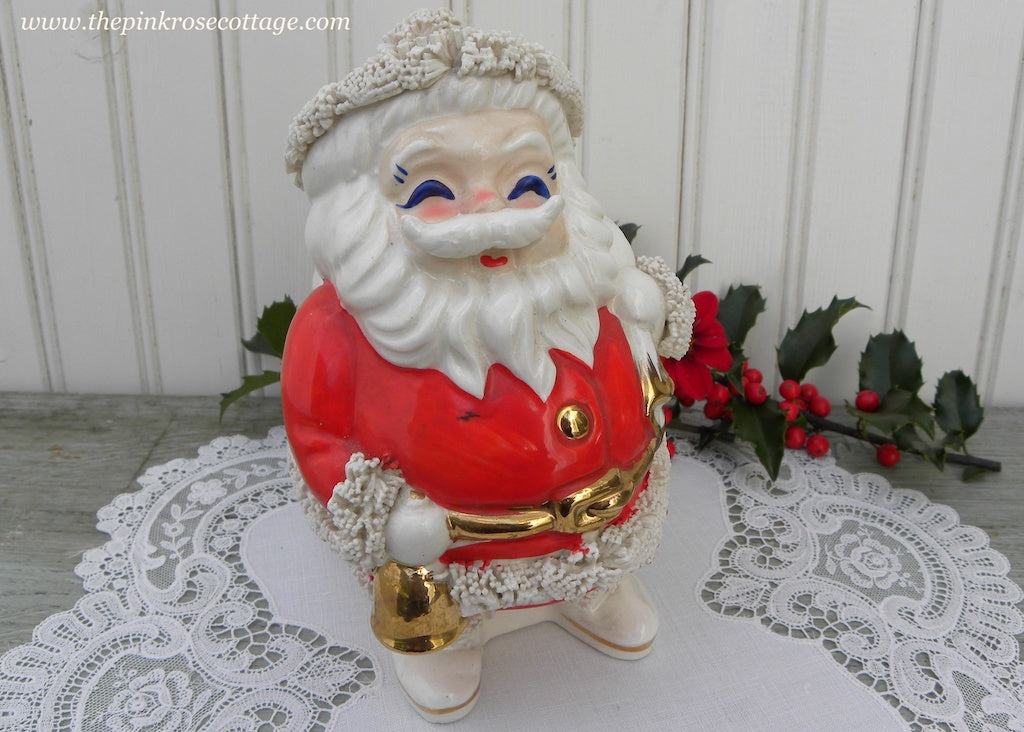 Vintage Santa International Spaghetti Santa Claus Bank