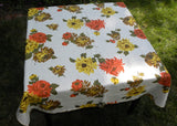 Vintage Fall Thanksgiving Chrysanthemums Tablecloth
