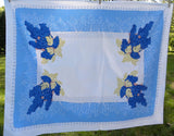 Vintage CHP California Hand Prints Grapes Tablecloth