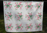 Vintage Wilendur Pink Royal Rose Tablecloth