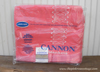 Vintage New Cannon Plymouth Pink Blanket Twin