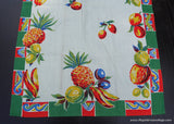 Unused Vintage Fruit Tea Towel Pineapple Lemons Bananas and More