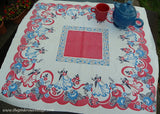 Vintage Iris Prints Figural Tablecloth Fred and Ginger Ballroom Dancers
