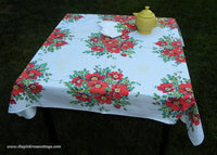 Vintage Wilendur Wildrose Tablecloth & Napkins