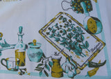 Vintage Kitchen Vegetables and Spices Tablecloth