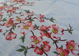 Vintage Simtex Kasha Pink Dogwood Tablecloth