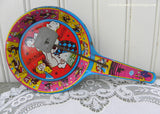 Vintage Metal New Years Eve Noise Maker Dancers Singers Bands