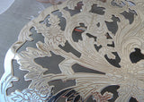 Vintage Lunt Silver Plated Filagree Footed Expandable Trivet