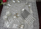 44 Piece Vintage Nobility Magic Moment Silver Plate Flatware Set & Serving Pieces