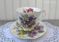 Duchess Pansies Violets Roses and More Teacup and Saucer