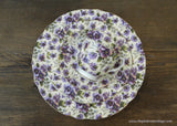 Royale Garden Chintz Pansy Pansies Teacup Saucer and Plates