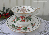 A Cup of Christmas Tea Teacup and Saucer by Warren Hanson