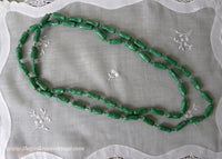 Vintage St. Patrick's Day Green Long Beaded Necklace
