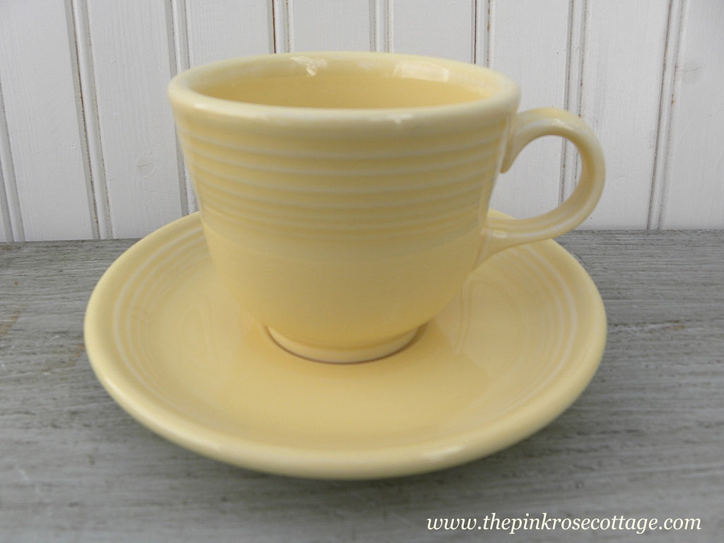 Fiesta Fiestaware Teacup and Saucer Yellow