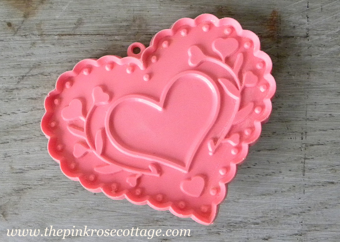 Vintage Pink Folk Art Valentine S Heart Hallmark Cookie Cutter The