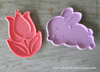 Vintage Hallmark Easter Bunny and Spring Tulip Cookie Cutters