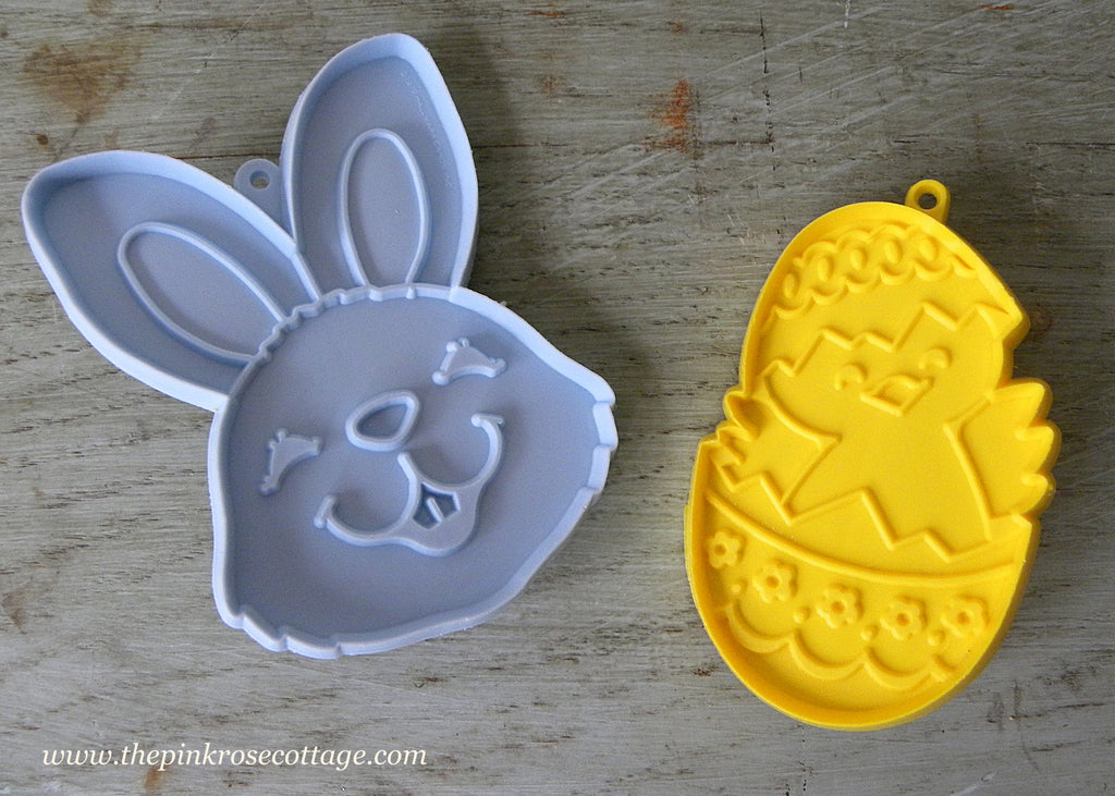 Vintage Hallmark Easter Bunny and Chick Cookie Cutters