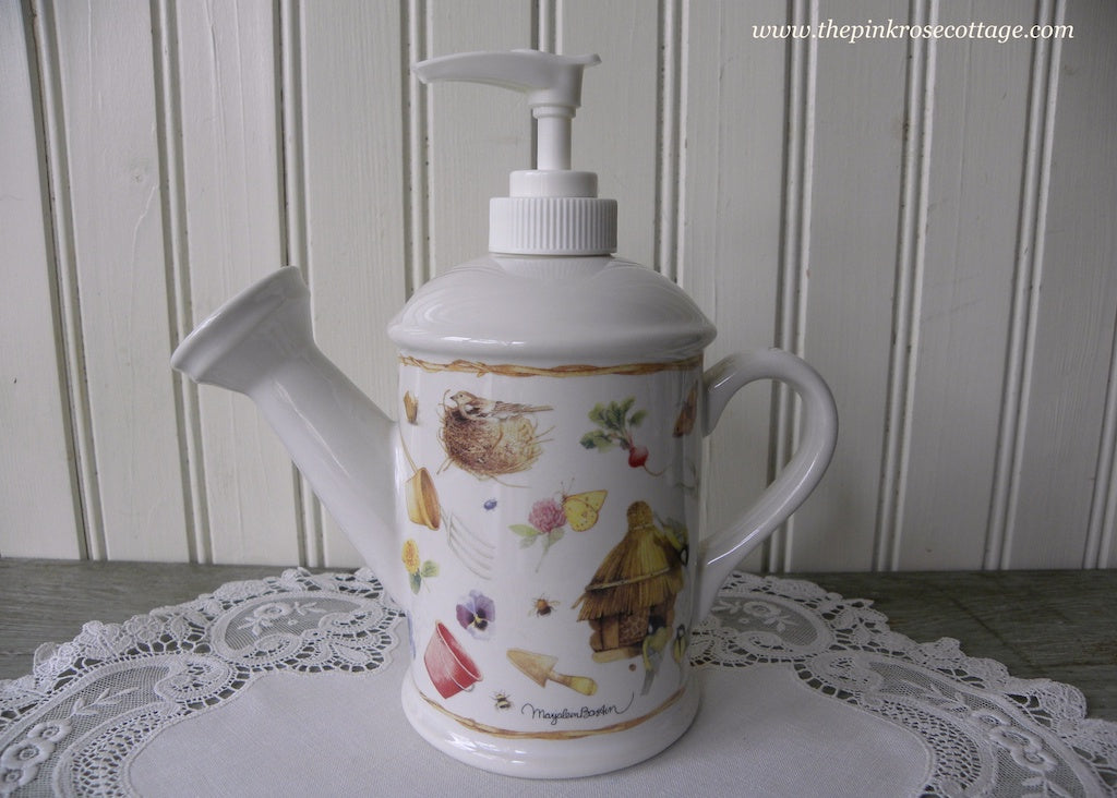 Marjolein Bastin Watering Can Gardening Soap Lotion Dispenser - The Pink Rose Cottage