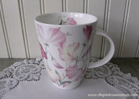 Pink Sweet Peas Roy Kirkham Tea Coffee Mug England - The Pink Rose Cottage