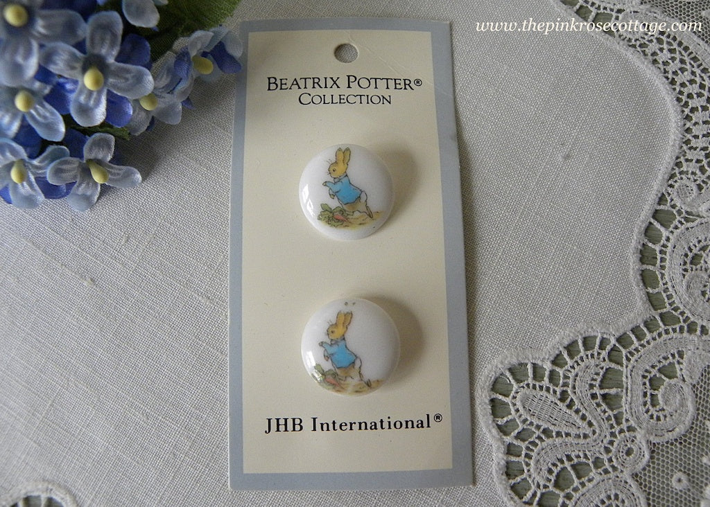 JHB International Beatrix Potter Peter Rabbit Running Buttons - The Pink Rose Cottage