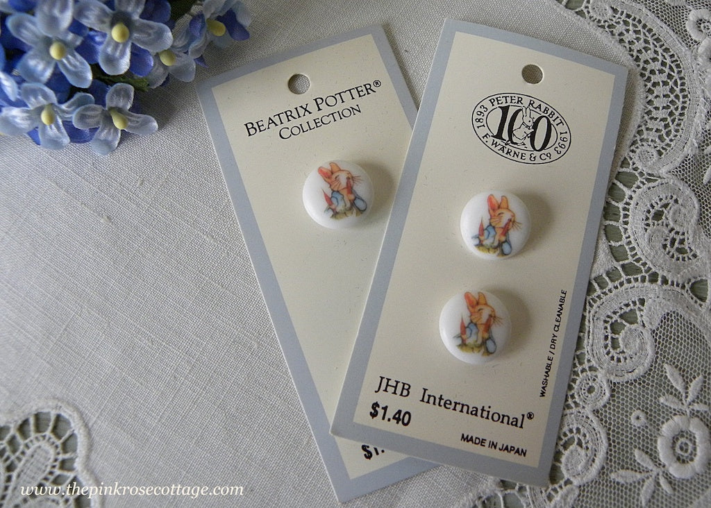JHB International Beatrix Potter Peter Rabbit & Carrots Buttons - The Pink Rose Cottage