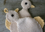Pair of Hand Crocheted Duckling Potholders Pot Holders - The Pink Rose Cottage