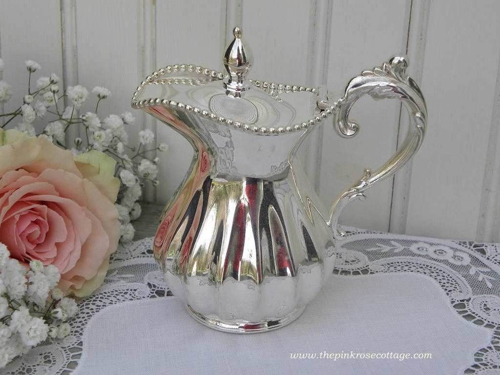 Vintage Rogers & Bro Silver Plated Syrup Pitcher Creamer