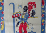 Vintage Kitchen Tea Towel Cocktail Waiter Black Americana