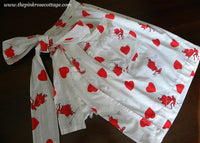 Vintage Valentine Sexy Pin Up Devil Apron with Attached Towel