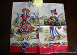 MWT Pair of Superior Quality Mexican Tea Towels Man and Woman - The Pink Rose Cottage