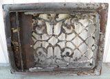 Antique Ornate Cast Iron Heater Wall Grate Vent