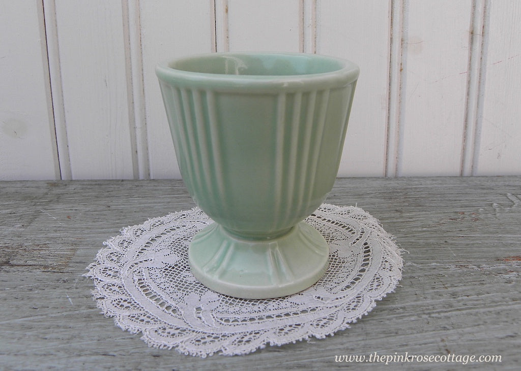 Vintage Hankscraft Soft Green Crockery Egg Cup