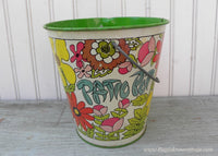 Vintage Cheinco Mod Retro Patio Pot Sand Bucket Pail