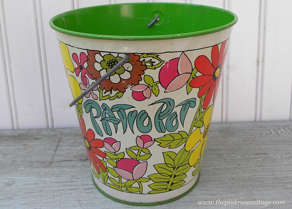 Vintage Cheinco Mod Retro Patio Pot Sand Pail Bucket