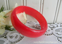 Vintage Red Moonglow Bangle Bracelet