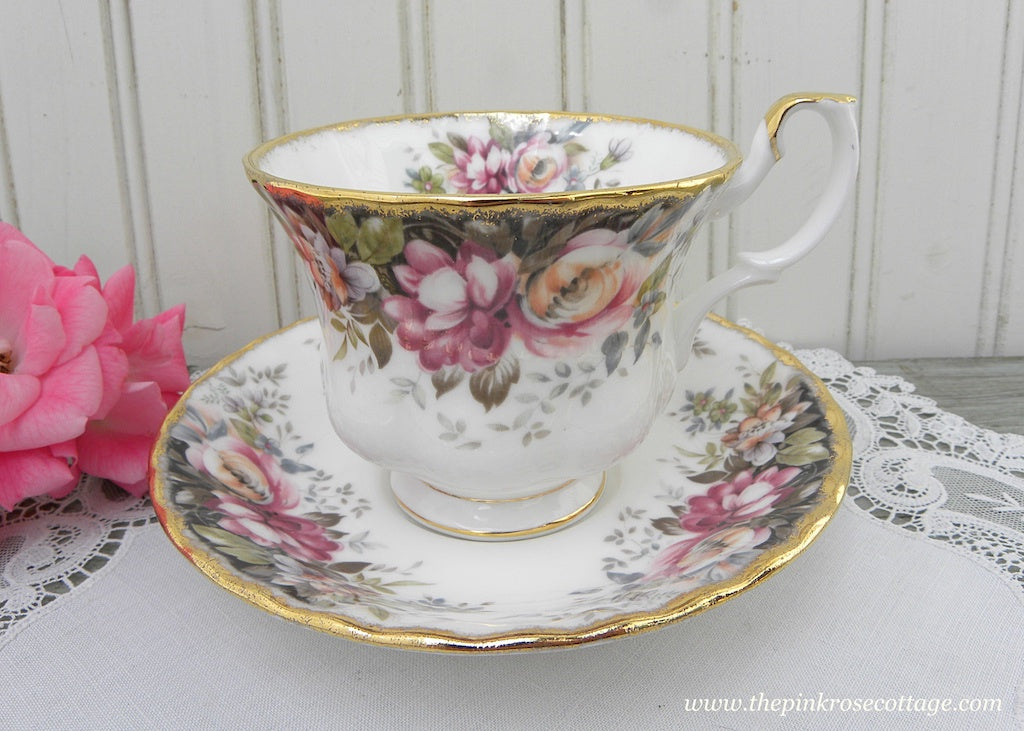 Royal Albert Autumn Roses Teacup and Saucer