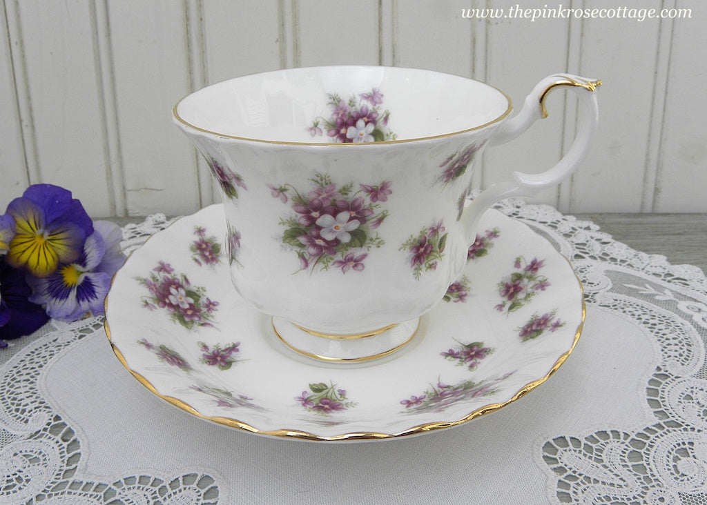 Vintage Royal Albert Sweet Violets Teacup and Saucer