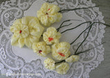 Vintage Handmade Yellow Fabric Millinery Daffodils Flowers