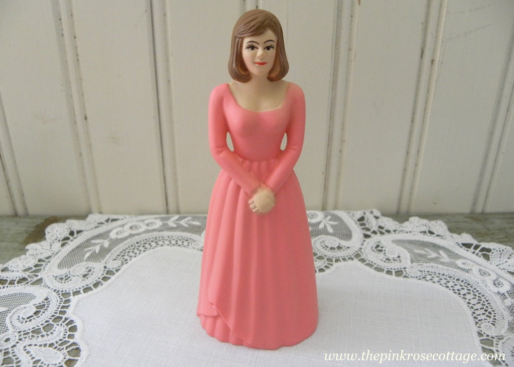 Vintage Wedding Bridesmaids Pink Dress Cake Topper