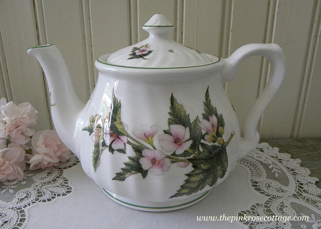Vintage Royal Patrician Althaea Officinalis and Mentha Piperila Herb Teapot