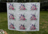 Vintage Wilendur America's Pride Peony Tablecloth Pink and Purple Peonies