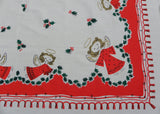 Vintage Simtex Little Angel Whimsical Christmas Tablecloth
