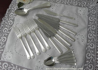 1927 Vintage Wm Rogers Mfg Co Silver Anniversary Flatware Set - The Pink Rose Cottage