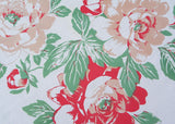 Vintage Rosemary Pink Peonies Peony Tablecloth