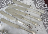 Vintage CM Co Silver Plated  Monogram M W Flatware Set