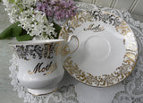 "Vintage Queen's ""Mother"" Teacup and Saucer - The Pink Rose Cottage"