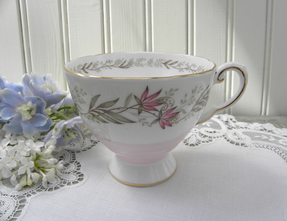 Vintage Tuscan Pink Teacup with Pink Flowers - The Pink Rose Cottage