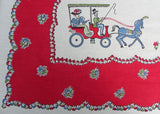 Vintage Broderie Whimsical Couples Gay 90's Tablecloth